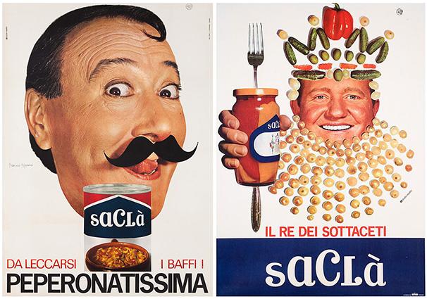 mostra manifesti pubblicità Saclà